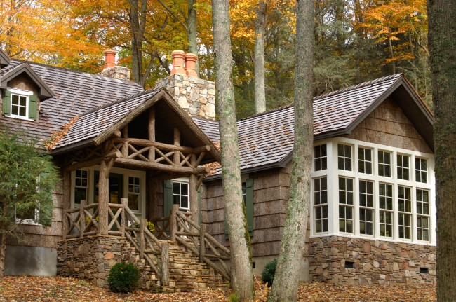 Barking up the right tree fresh american style for Bark house siding