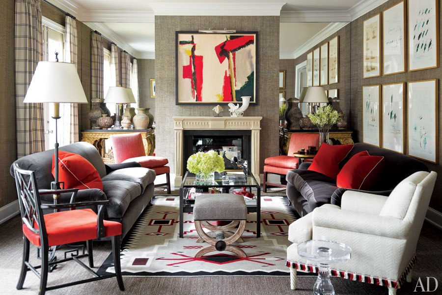 J Randall Powers Houston living room Arch Digest