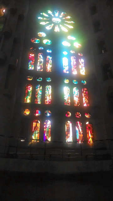 Stained-glass window, La Sagrada Familia