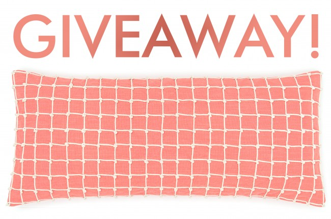 Coral pillow giveaway