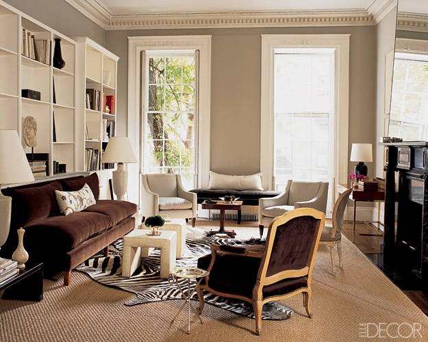 Layered Rugs Elle Decor