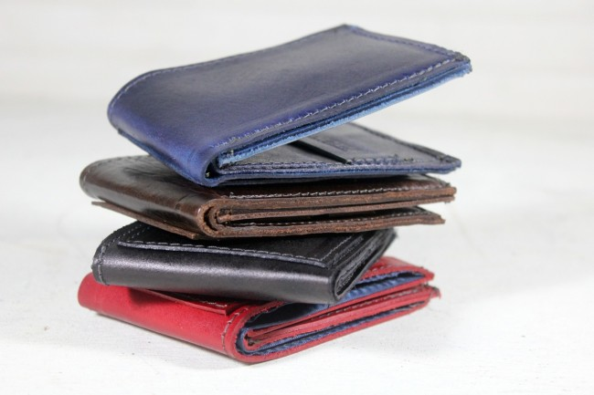 R Riveter leather wallets