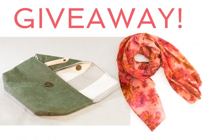 pine cone hill velvet flowers pink scarf canvas clutch r. riveter giveaway