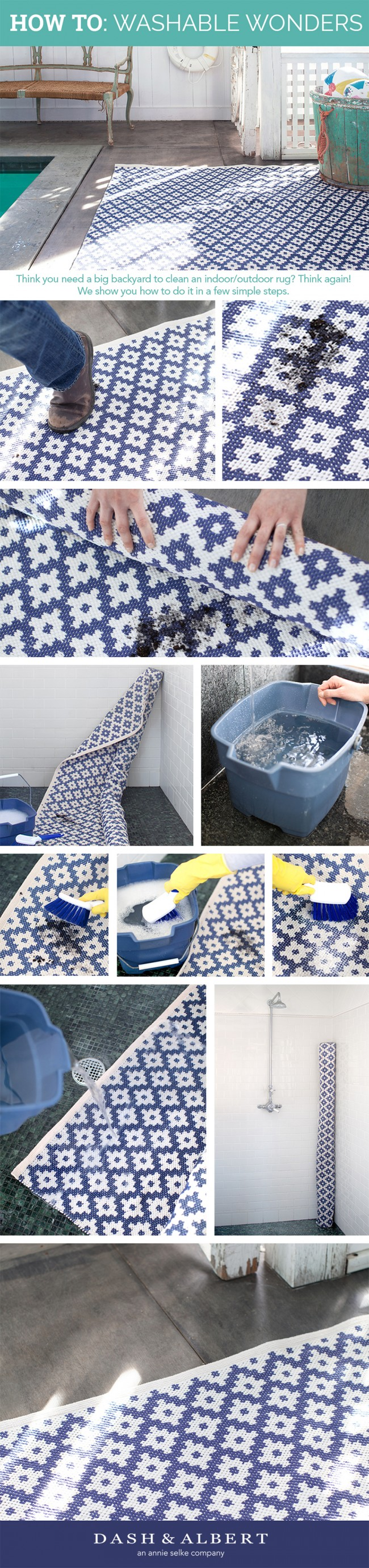 Dash & Albert Indoor Outdoor Rugs Cleaning How To