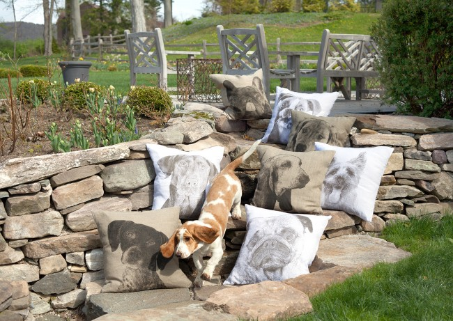 Decorative Dog Themed Pillows : Dog-Themed Decorative Pillows from Eric & ChristopherFresh American Style