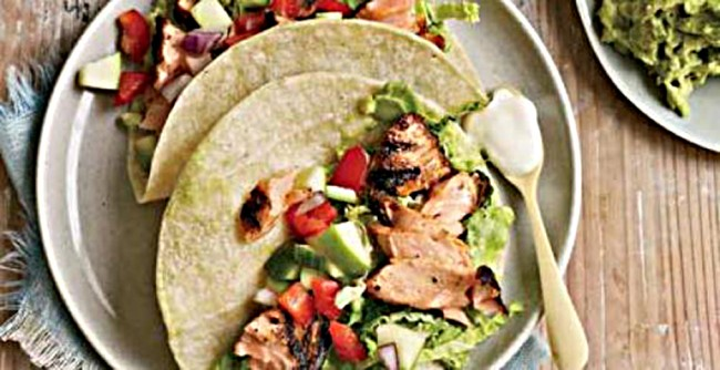 Chipotle Rubbed Salmon Tacos