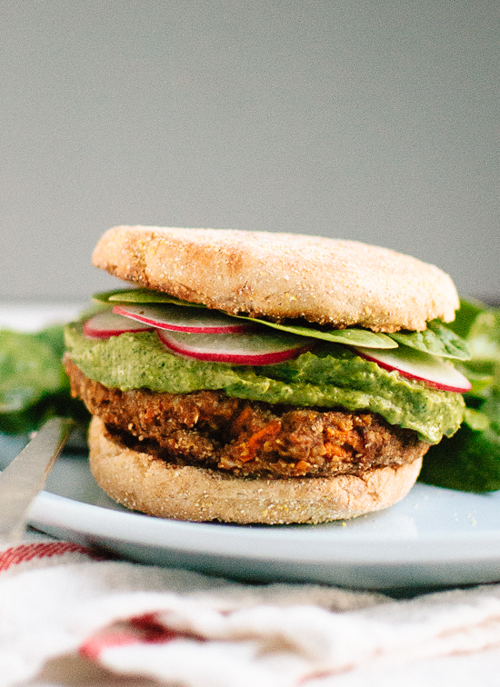 Cookie and Kate Lentil Chickpea Burger