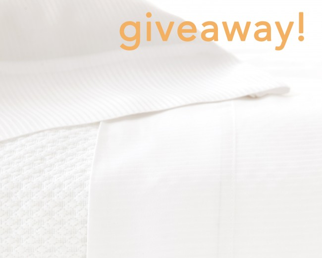 Pine Cone Hill silken stripe sheet set giveaway