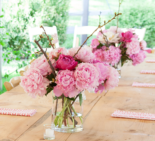 How To Make Simple Peony Arrangements For Your Next Party