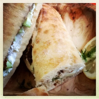 herb goat cheese and fig sandwiches 1