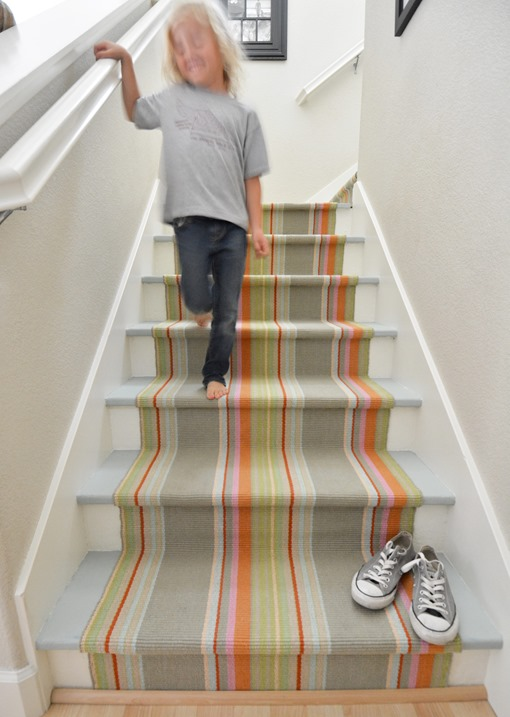 The Happy Staircase Rug Installation With Centsational
