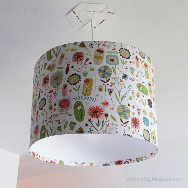 DIY lampshade 8 wrapping paper Oh Oh Blog