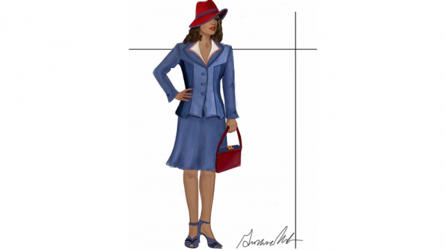 agent carter costume concept sketch