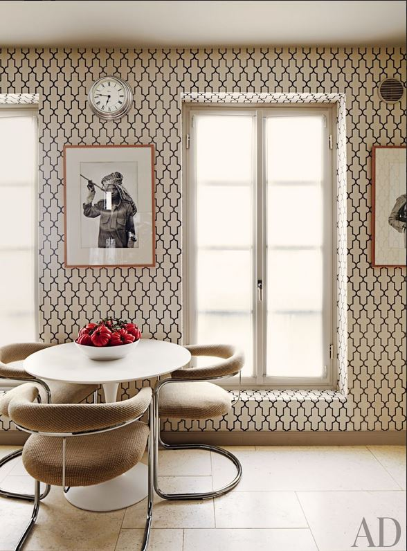 Timothy Whelan Inc Architectural Digest wallpaper kitchen