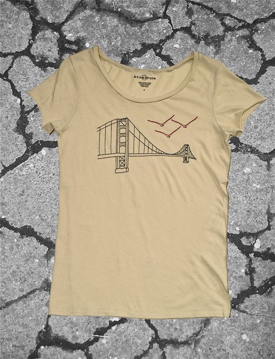 Anna Bruce golden gate bridge t shirt