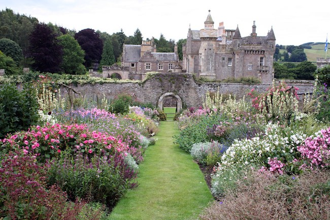 English garden flowers Abbostford House Scotland