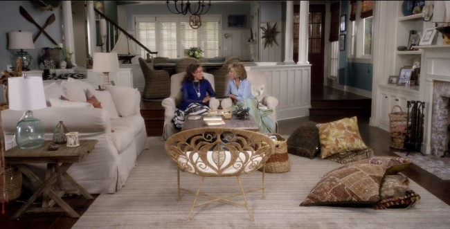 Grace and Frankie living room Brindle Stripe rug