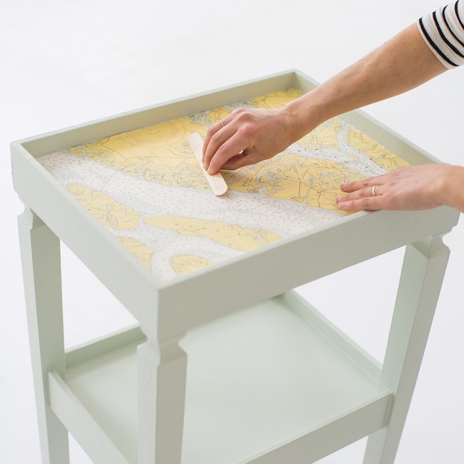decoupage map table 10