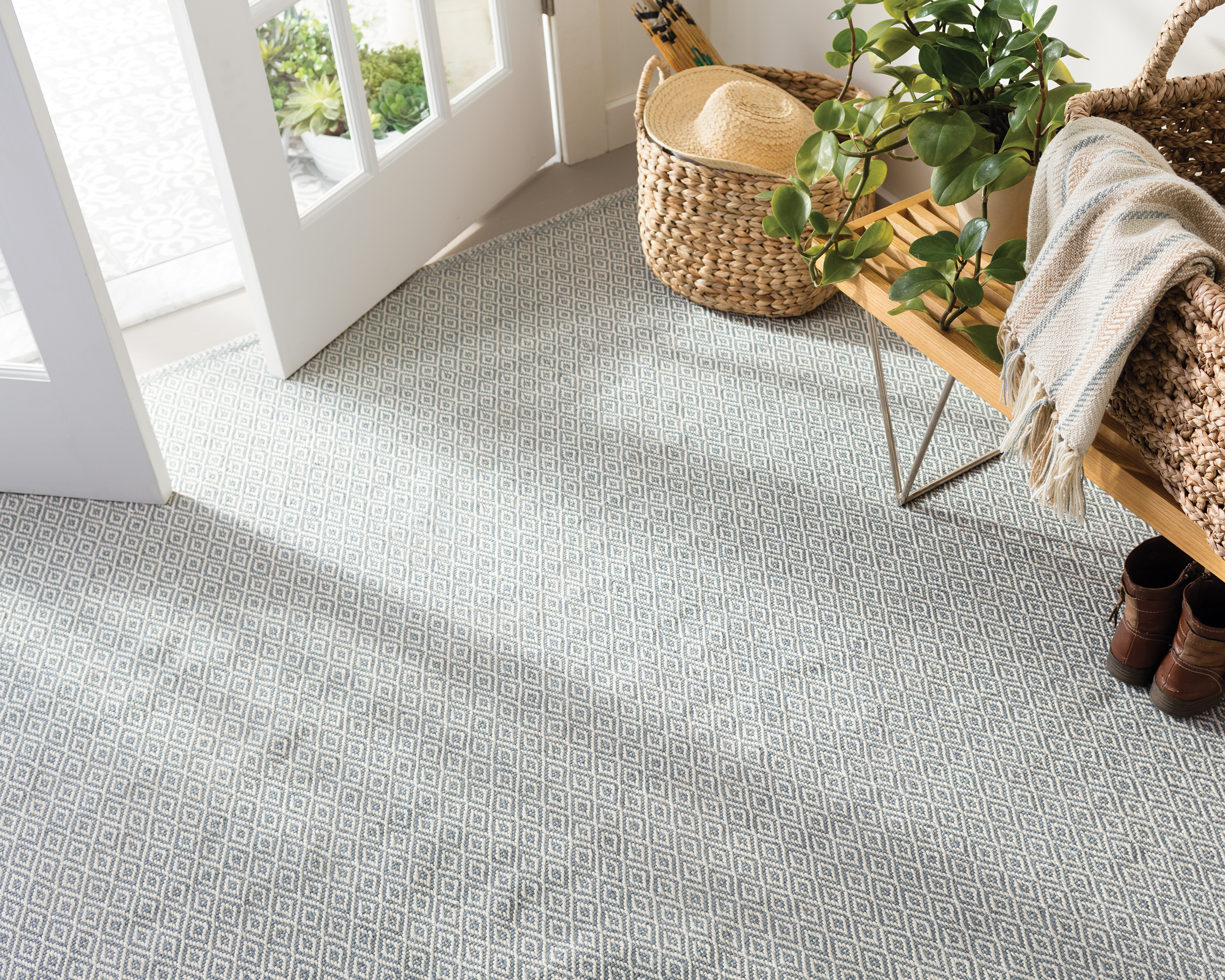 Crystal Swedish Blue Indoor/Outdoor Rug by Annie Selke | Fresh American Style