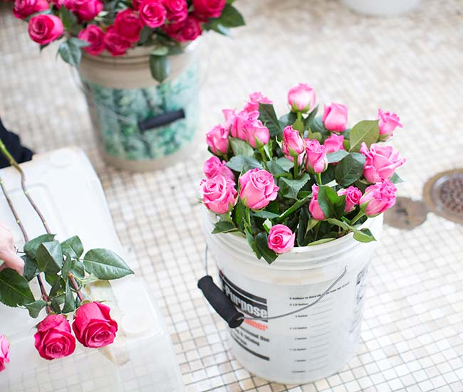 Rose And Peony Flower Arrangements 2
