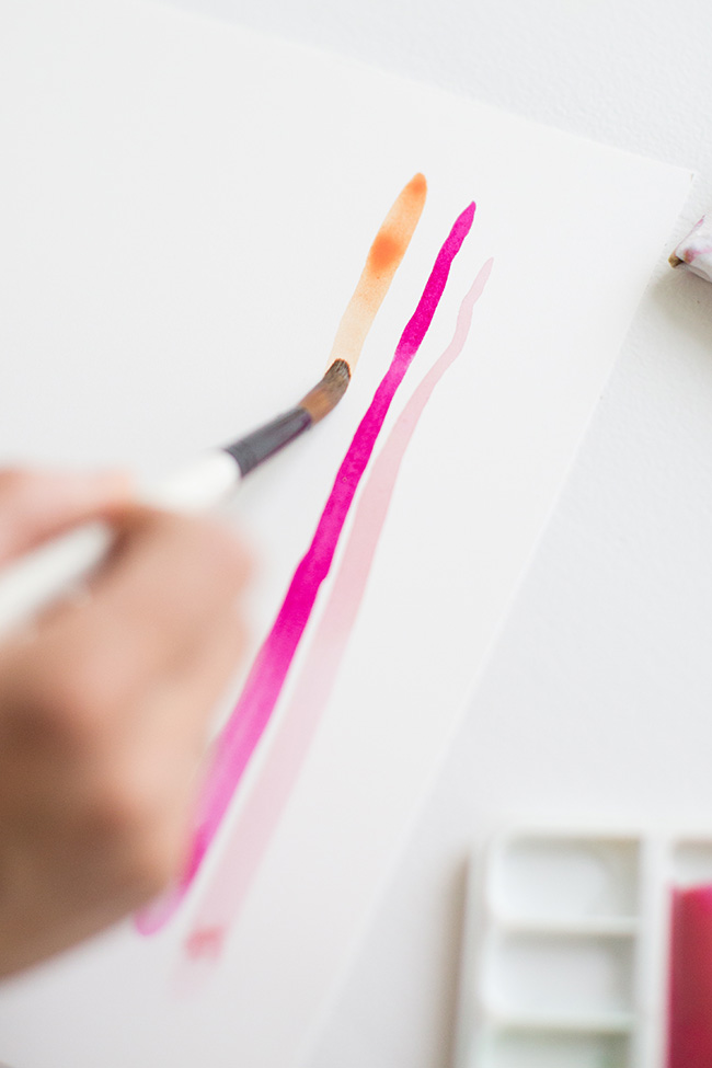 how to make watercolor art