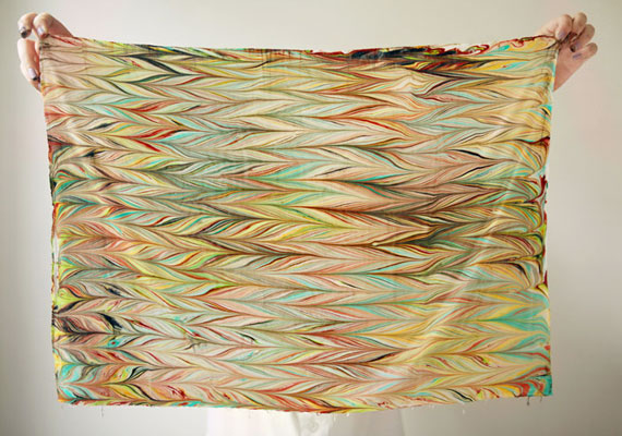 Etsy how to make a marbled scarf