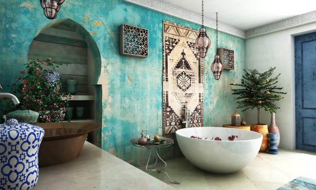 Moroccan bathroom design