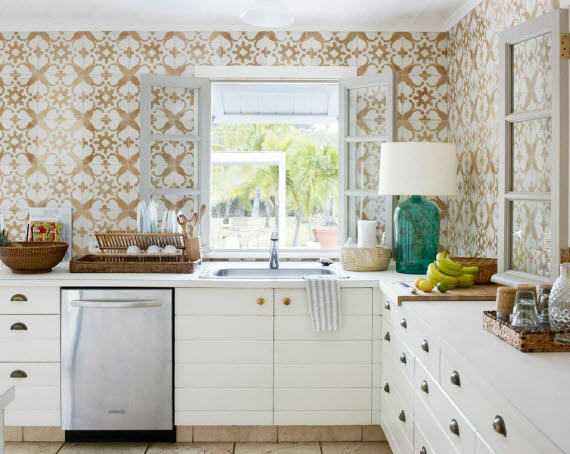 Tom Sheerer moroccan tile kitchen