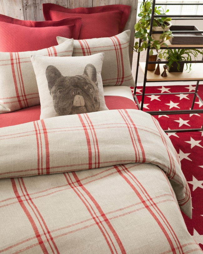 15FarmHouseLinenRedDogPillow