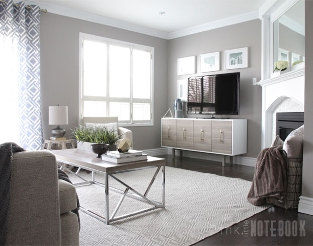 Sleek elegant living room makeover with sabrina of pink for Sleek living room