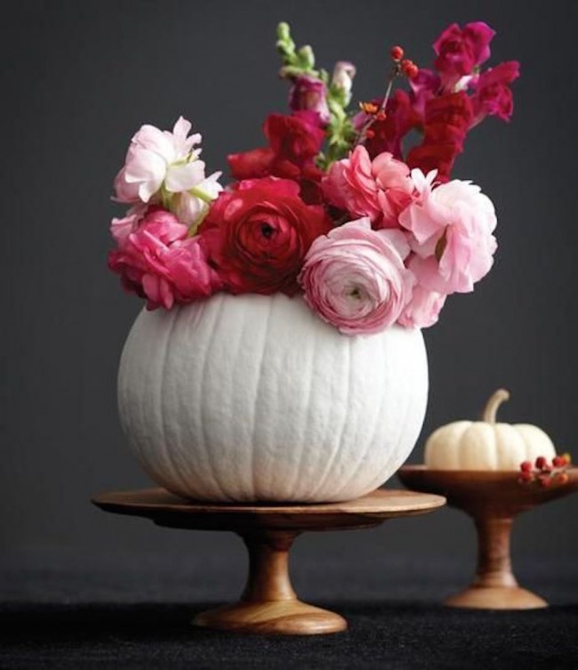 white pumpkin holiday centerpiece Jillian Harris