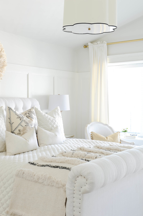 Doctors closet home tour white bedroomStyle Me Pretty