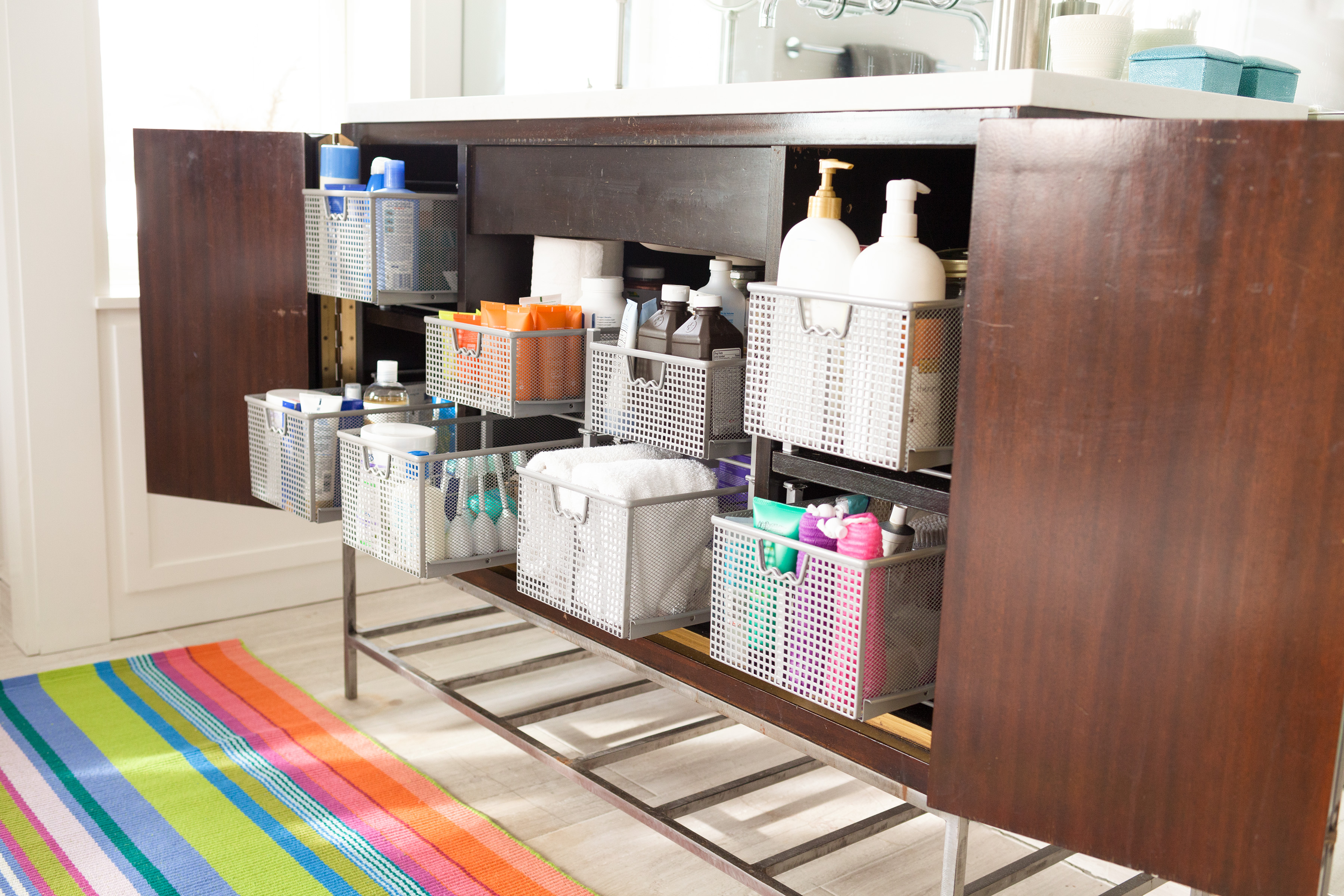 How Toanize Your Bathroom Sliding Drawers Medicine Cabinet Storage Tips