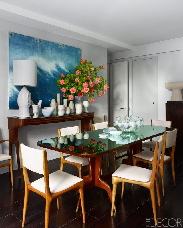 Parisian apartment dining room elle decor