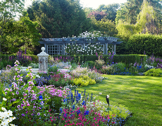 English style garden in the Hamptons Traditional Home