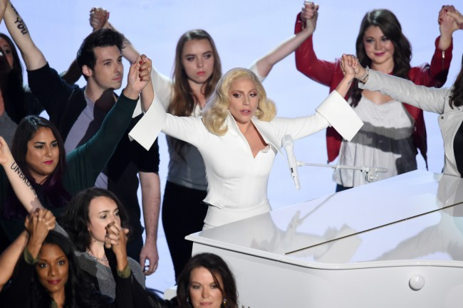 Lady Gaga Oscars sexual assault survivors LA Times