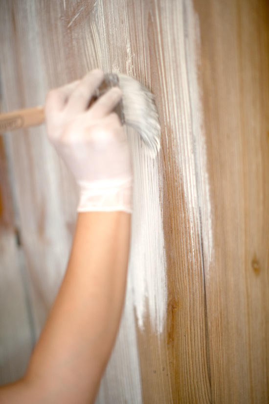Using a paintbrush, cover a small section of the paneling at a time with  the whitewash. - Best Of Blog: How To Whitewash Walls - Fresh American Style