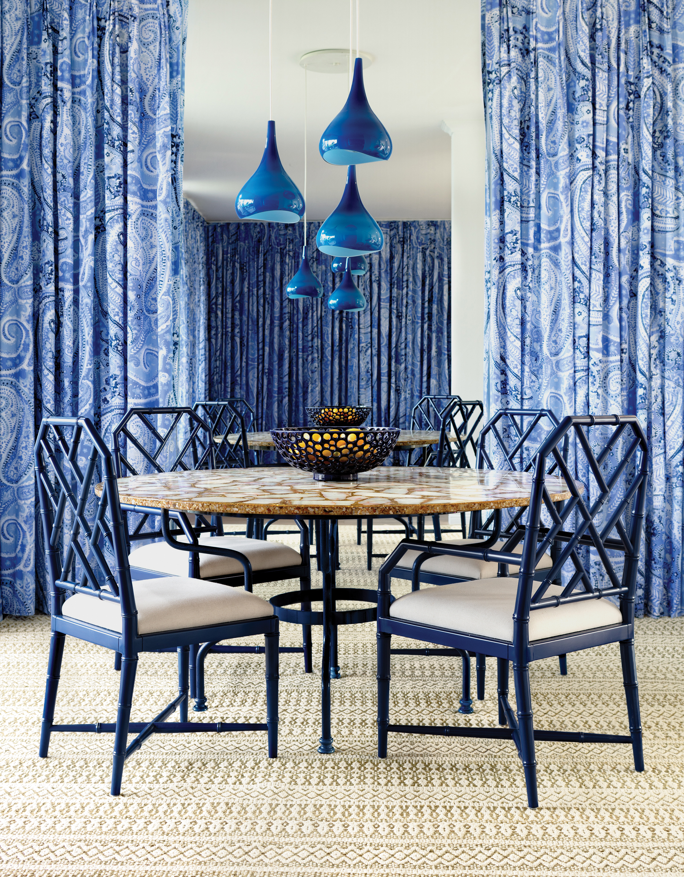 Annie Selke's Palm Springs Dining Room | Fresh American Style