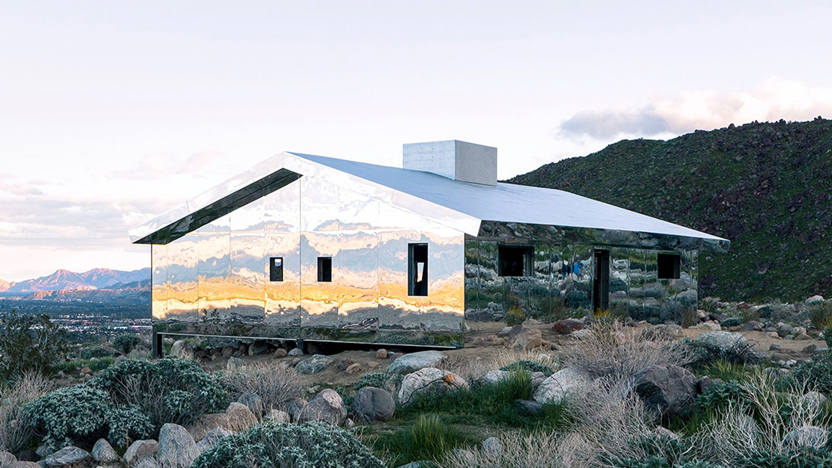 "Doug Aitken's ""Mirage"" Desert X installation (photo credit: Palm Springs Style) 