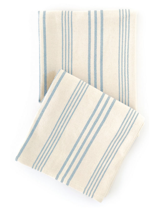 Swedish Stripe Cotton Throw by Annie Selke | Fresh American Style
