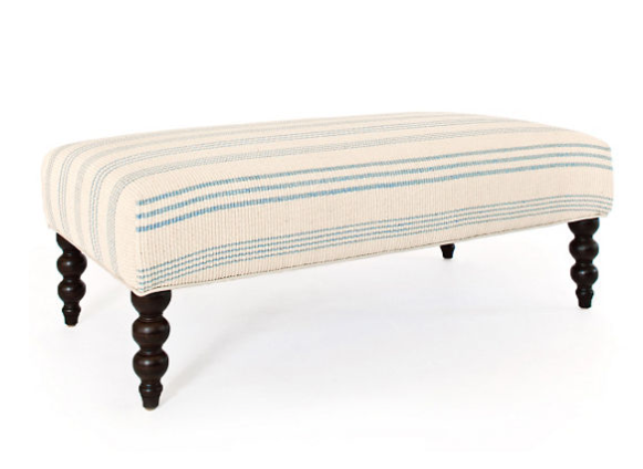 Swedish Stripe Rug Ottoman by Annie Selke | Fresh American Style