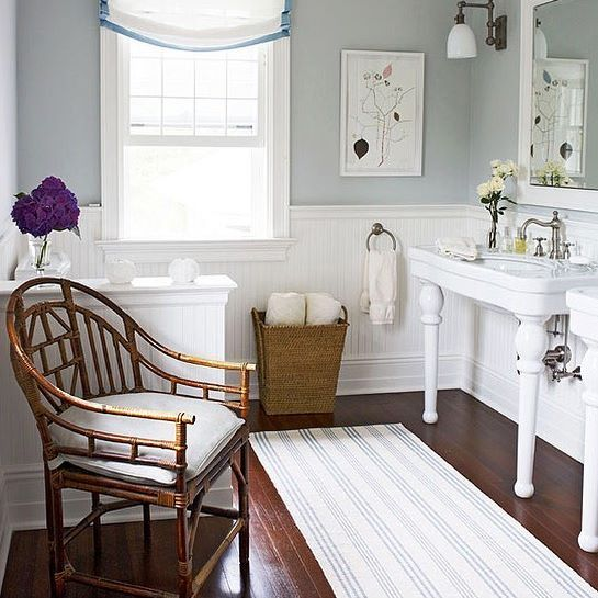 Swedish Stripe Rug by Annie Selke as seen in Traditional Home Magazine | Fresh American Style