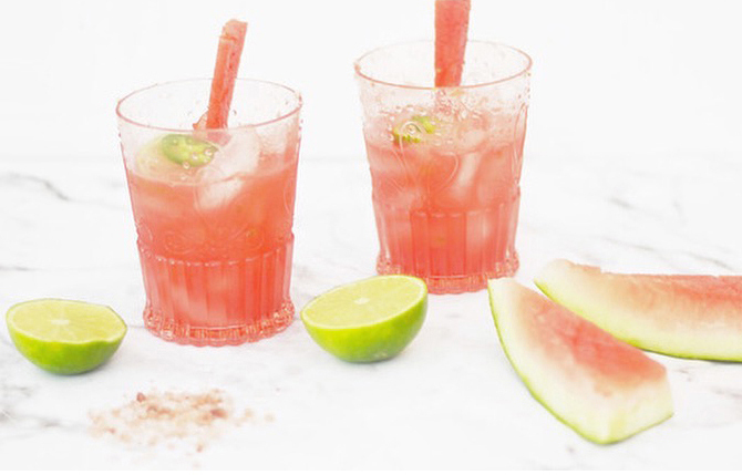 Watermelon Jalapeno Margaritas via Pure Joy Home | Fresh American Style