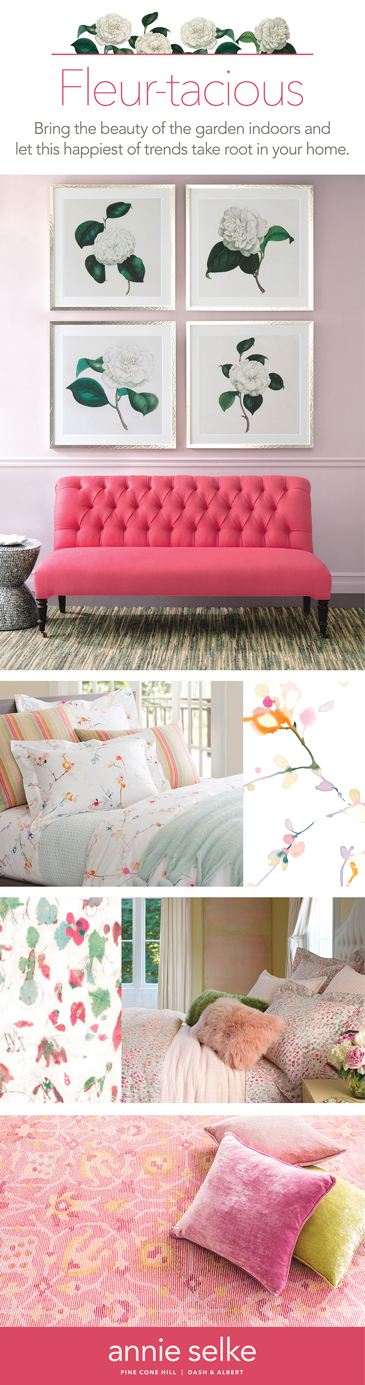 Getting Fleur-Tacious! Bring Pops of Spring Into Your Rooms | Annie Selke's Fresh American Style