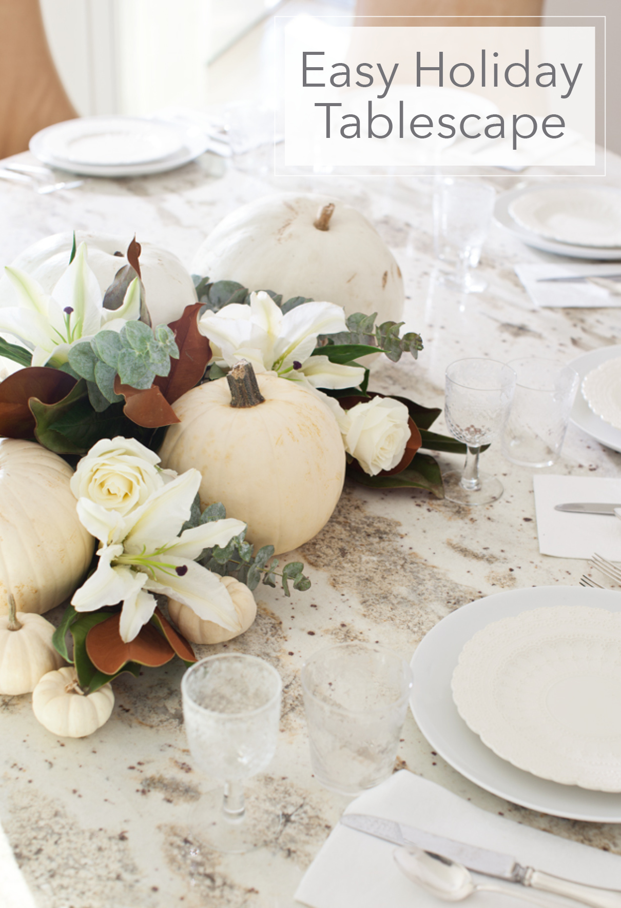 Easy DIY Holiday Tablescape | Annie Selke's Fresh American Style