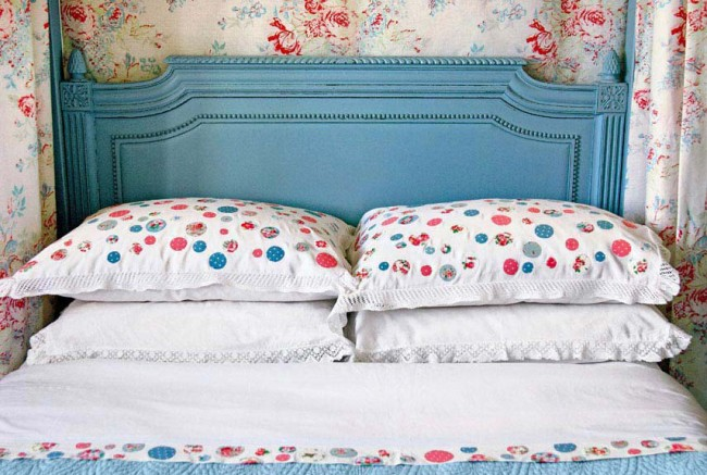 Country living periwinkle headboard