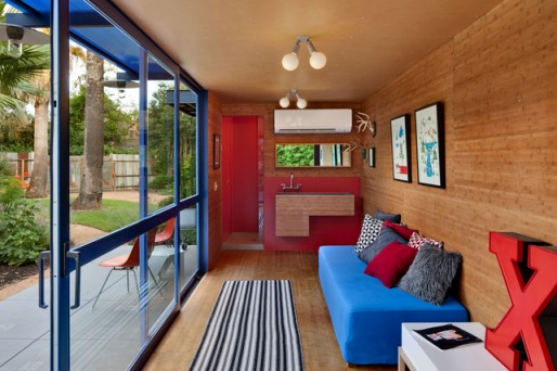 San Antonio container house, via Small House Style
