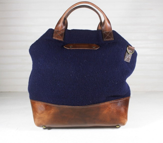 R Riveter Lee Blue Wool handbag