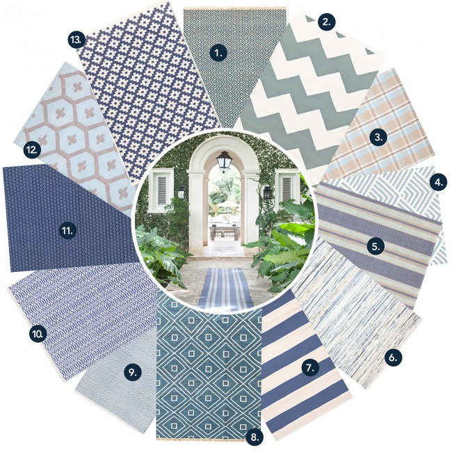 Dash & Albert blue indoor outdoor rugs