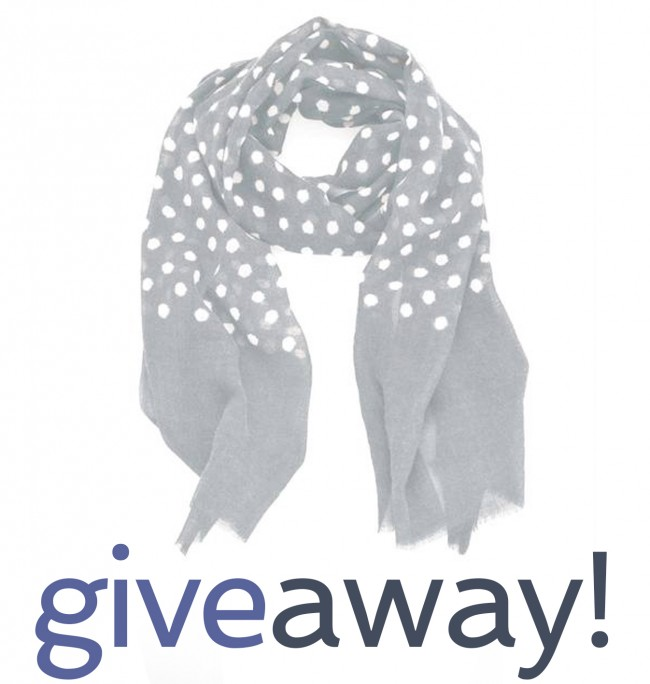 giveaway dots grey scarf